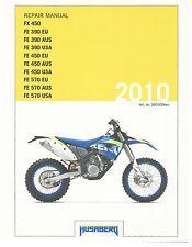 Husaberg service manual 2010 FX450 & FE 570 EU, AUS, USA
