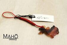 MADE IN JAPAN Kimono style TORTOISESHELL-LIKE Netsuke strap charm USAGI Rabbit