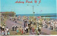 Vintage Postcard - Boardwalk of Asbury Park, New Jersey - PM 1983 - VG