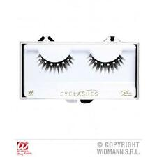 Black Spiked Eyelashes With Diamonte Detail & Glue