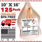 """POULTRY SHRINK BAGS 10""""X16"""" (125) CHICKEN SHRINK BAGS FREEZER SAFE USA MADE🇺🇸"""