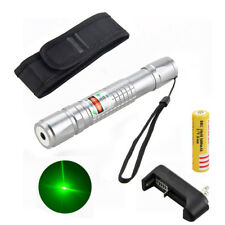 532nm 0.5mw 5KM Stylo Puissant Pointeur Laser Vert  Ajustable Faisceau+18650+CH