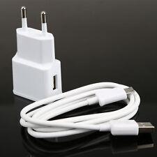 100cm USB Kabel mit EU-Stecker 2A Ladegerät für Samsung Galaxy Note 2 S3 S4 Weiß