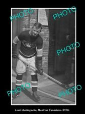 8x6 HISTORIC PHOTO OF ICE HOCKEY GREAT LOUIS BERLINGUETTE MONTREAL CANADIENS