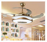 "36/42"" Bluetooth Invisible Ceiling Fan Light LED Music Player Chandelier +Remote"