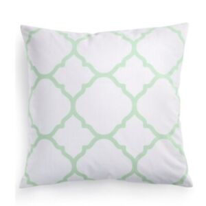 """Charter Club Damask Designs Geometric 18"""" Square Decorative Pillow Green NEW NWT"""