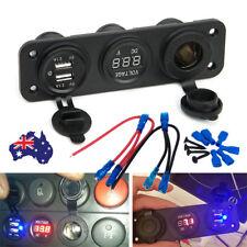 USB 2.1A 5V Charger Digital Voltmeter Car Cigarette Lighter Socket Power Phone