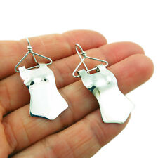 Sterling 925 Silver Mexican Frida Kahlo Hanger Earrings in a Gift Box