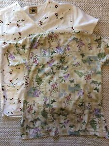 Women's Two Floral Scrubs Small
