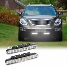 2x 12W 30 LED Daytime Running Light DRL Fog White lights + Amber Turn Signal 12V