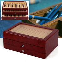 3 Layer 34 Slot Fountain Pen Display box wood Collector Storage Christmas Gifts