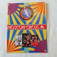Moscow Circus Program 1988 Vintage Advertising USSR Show Souvenir Snuggle