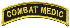 CVMA Style Combat Medic Embroidered Tab / SF Combat Medic / Navy Corpsman / Army