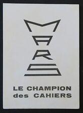 Buvard MARS Le champion des cahiers écriture école écolier 2