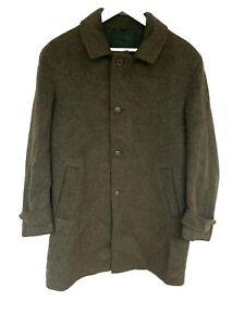 Men's Vintage Coat Dolomiten Sportswear LODEN Alpaca Wool Green Luxury Medium
