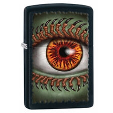 NEW ZIPPO LIGHTER 28668 BLACK MATTE MONSTER EYE METAL LIGHTER USA MADE