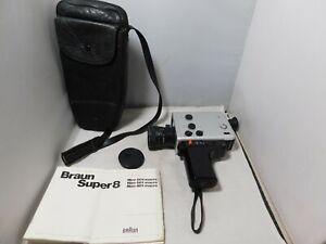 Braun Nizo 481 Macro Super 8 Cine Film Movie Camera c/w Leather Case & Manual