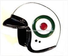 HELMET - PIN BADGE - ITALIAN ROUNDEL SCOOTERISTS VESPA MODS LAMBRETTA (LK-38)