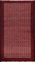 Excellent Vintage Geometric Balouch Oriental Area Rug Handmade Tribal Carpet 3x6