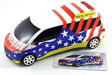 Otoyco Kids Locking Bank Red White Blue Car Heavy Duty Diecast Metal 1:18 Scale