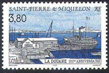St Pierre & Miquelon 1996 Customs House/Harbour/Ships/Boats/Transport 1v n41214