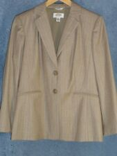 Talbots 6 Blazer 2 Pants Petites Beige Wool Pinstripe Suit NWOT New Talbot's