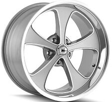 """Staggered Ridler 645 Front:18x8,Rear:18x9.5 5x4.75"""" +0mm Grey Wheels Rims"""