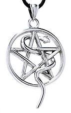 Guardian Pendant Stainless Steel nr.78 Large Pentagram Snake White Magic