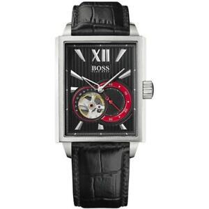 Hugo Boss 1512505 Black 35MM Men's Automatic Black Leather Watch