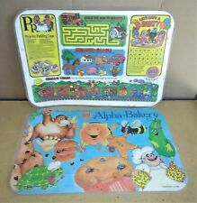2 Alpha-Bakery Gold Medal Place Mats Children's 2 Different Dry Erase Puzzles