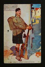 WW1 Postcard Scottish Soldier Rifle Bayonet Ravenswood Road Redland Bristol BS6