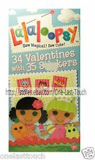 LALALOOPSY* 34 Cards+Stickers VALENTINES DAY Fun Designs CLASSROOM EXCHANGE 4/10