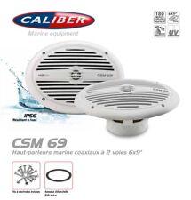 """Haut parleurs Marine Étanche 6X9"""" Ovale 2 Voies Coaxiaux 180 Watts Caliber CSM69"""