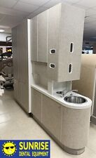 Adec 5543 Dental Center Island Cabinet w/ X-Ray Pass Through (Greystone)