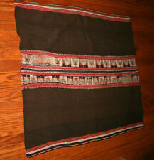 Vintage PERUVIAN BLANKET Handwoven throw rug,  manta, textile, wall hanging Wool