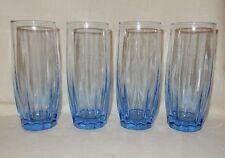 4 Light Blue Sapphire Tall Water Glass Tumblers Ice Tea 16 oz Anchor Hocking ?