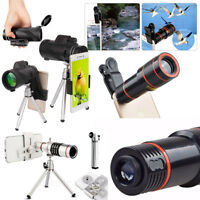 40x60 Zoom Hiking Monocular Telescope Lens Camera HD Scope Hunting +Phone Holder