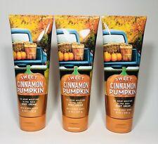3 Bath & Body Works SWEET CINNAMON PUMPKIN Body Cream 8 oz / 226 g Each