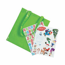 Rudolph The Red-Nosed Reindeer Tote Bag Craft Kit - Craft Kits - 6 Pieces
