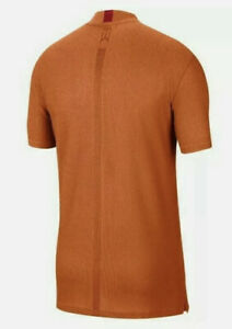 Nike Golf Tiger Woods Mock Neck Polo Shirt CT6078-847 Starfish(Orange) M NWT $90