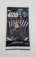 Star Wars Rogue One Topps Trading Cards Pack of 4 Unopened Sealed