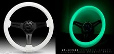 NRG STEERING WHEEL 350mm Glow in the Dark Classic Luminor White Wood ST-015BK-GL