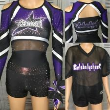 Real Cheerleading Uniform Allstar Celebrity Cheer Set Youth Xl