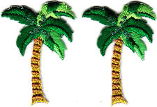 PALM TREES (2 Pieces)/Iron On Embroidered Applique Patch/Tropical, Beach