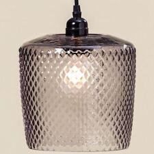 Lampe Deckenlampe Structure Glas grau 22cm