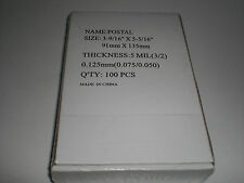 5 Mil Hot Laminating Pouches POSTAL Qty 100 3-9/16 x 5-5/16 Lamination Sleeves#2