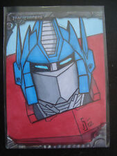 Transformers Optimus Prime Sketch Card By Jamie Snell
