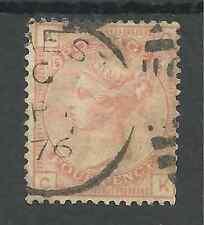 SG152 THE 1876 QV 4d VERMILLION SCARCE PLATE 15 FINE USED CAT £500