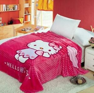 """New Design Kitty Cute Supersoft Plush Nap Bedroom Blanket Throw Cover 59""""x78"""""""