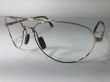 Maui Jim Pilot MJ-210-16 Gold Aviator Designer Eyeglass Frame Sunglass Glasses
